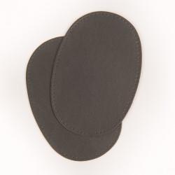 coudières genouillères imitation cuir gris foncé