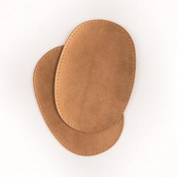 coudières genouillères imitation cuir doré