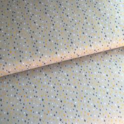 Tissu little cuties gris imprimé croix jaunes - Poppy
