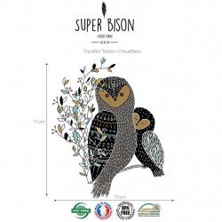 Transfert textile chouettes - Super Bison