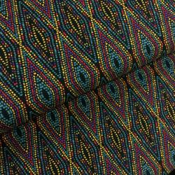 Tissu viscose multicolore