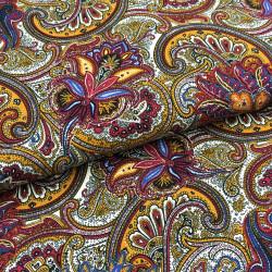 Tissu viscose fleurs
