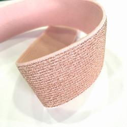 Élastique rose Glitter et lurex 30 mm