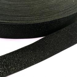 Élastique noir lurex noir 30 mm