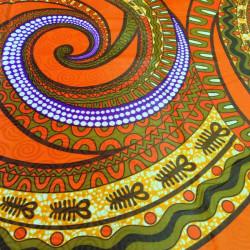 Tissu bazin motifs africains spirale