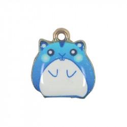 Breloque émaillée ours bleu