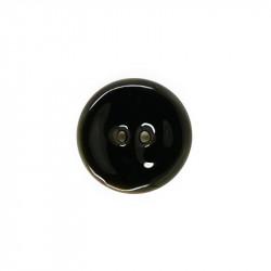 Bouton en nacre émaillée noir 23 mm