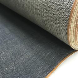 Tissu Jeans Selvedge gris avec lisière orange