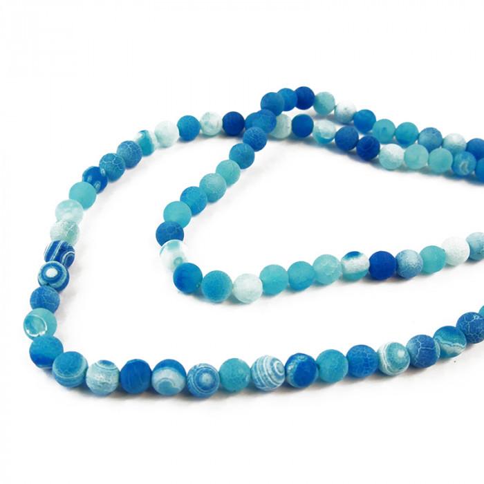 perle agate teintée 8 mm turquoise