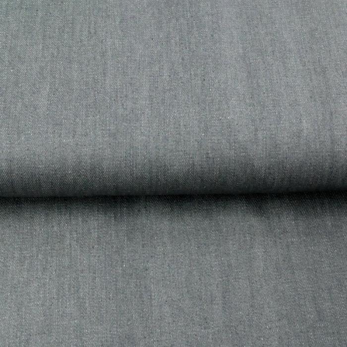 Tissu Jean denim gris