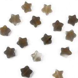 perle étoile agate grise 13 mm