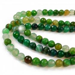 perle agate facettée 10 mm vert