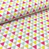 Tissu imprimé triangles rose - Stof