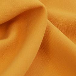 Tissu polyester viscose ocre