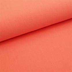 Tissu polyester viscose rose corail