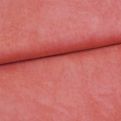 Tissu viscose rose chiné