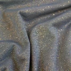 Tissu viscose bleu scintillant