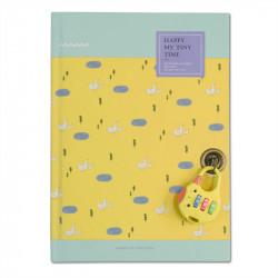 Carnet intime - bullet journal jaune