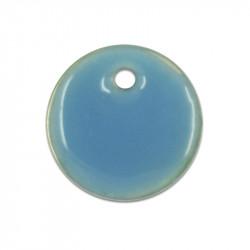 Sequin nacre émaillée 13 mm bleu
