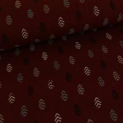 Tissu double gaze - bordeaux x 10 cm