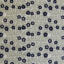 Tissu coton blanc petites fleurs - Rico Design x 10 cm