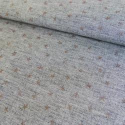 Tissu voile de coton imprimé - étoiles x 10 cm