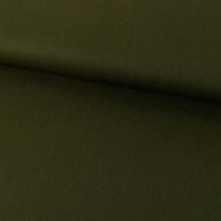 Tissu denim chino élasthane - vert kaki x 10 cm