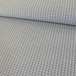 Tissu coton petits carreaux - gris x 10 cm
