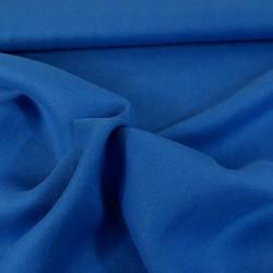 tissu Crêpe lin - bleu x 10 cm