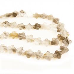 Perle quartz en forme de croix 14mm x1