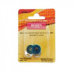 Bouton pression magnétique Bohin sans couture 14mm - 3 coloris