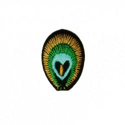 Ecusson thermocollant plume de paon