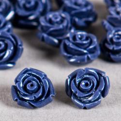 Fleur en poudre de nacre 12 mm bleu nuit