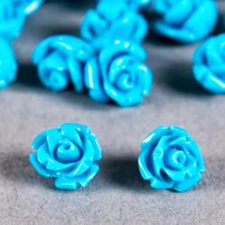Fleur en poudre de nacre 07 mm bleu turquoise