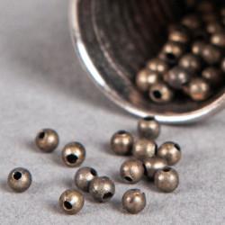 Perle en métal unie 5mm bronze