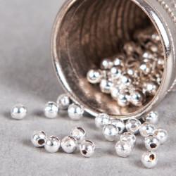 Perle en métal unie 5mm argent