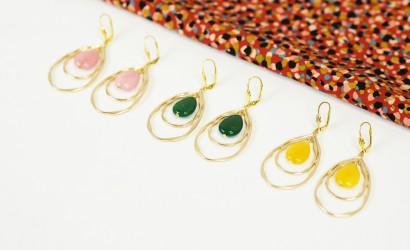Tuto bijoux : Boucles d'oreilles avec gouttes en pierre naturelle