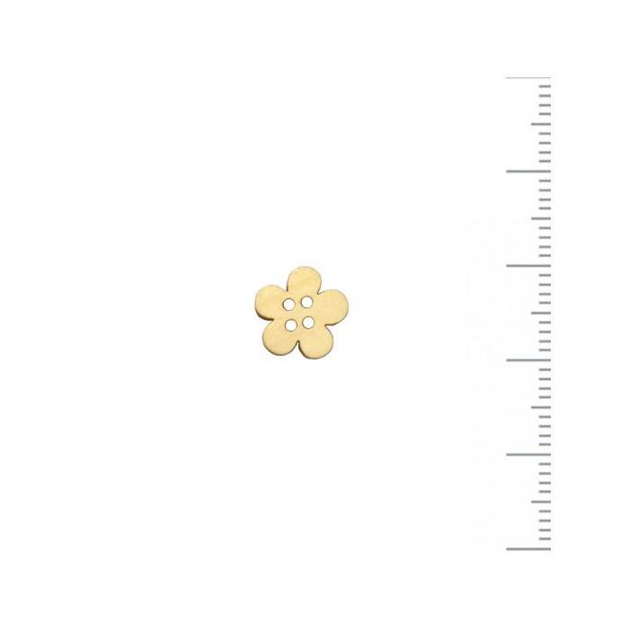 Bouton en bois fleur 10mm