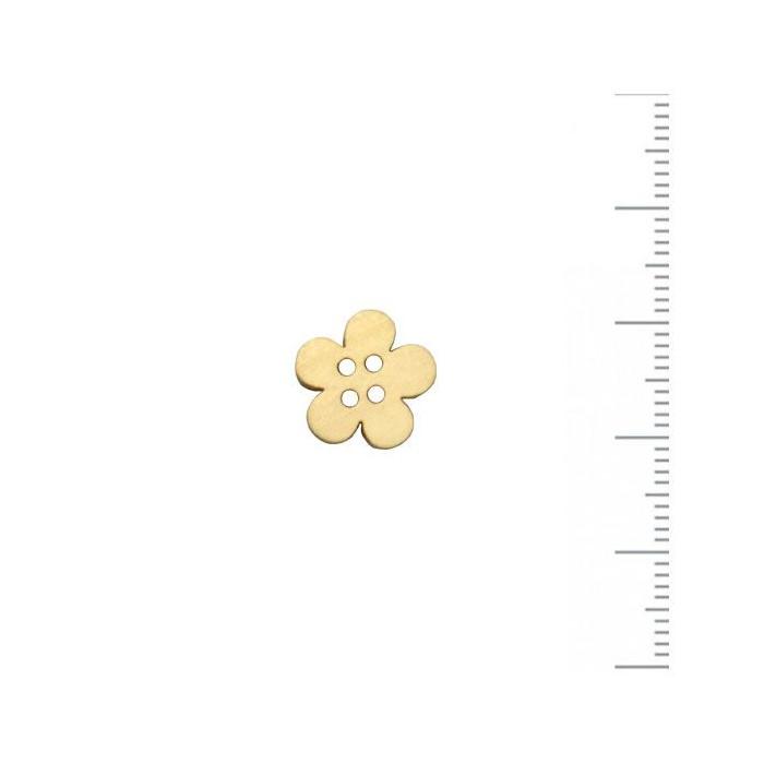 Bouton en bois fleur 12mm