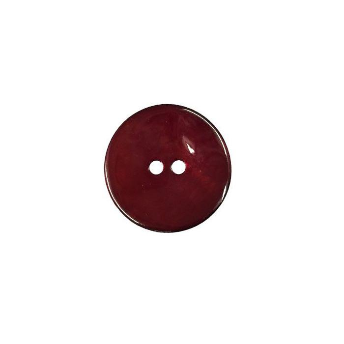 Bouton en nacre deux trous rouge profond