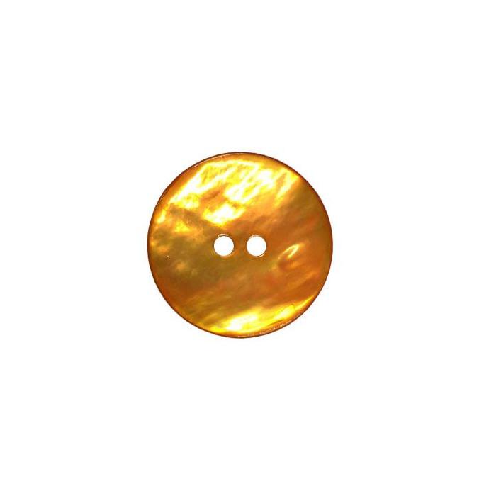 Bouton en nacre deux trous orange