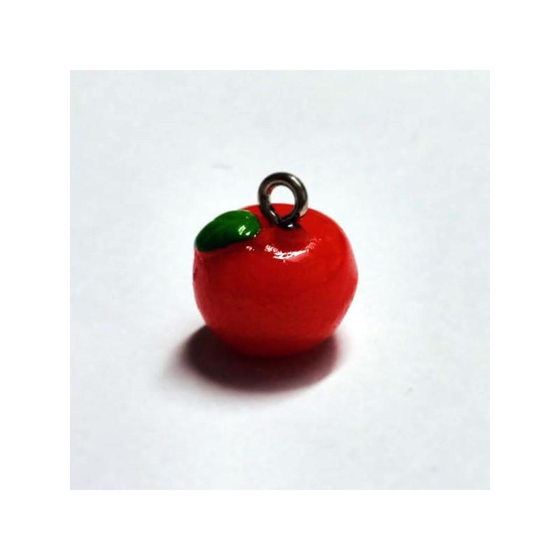 Breloque pomme rouge perles perlerie atelier de la for Atelier de la maison rouge