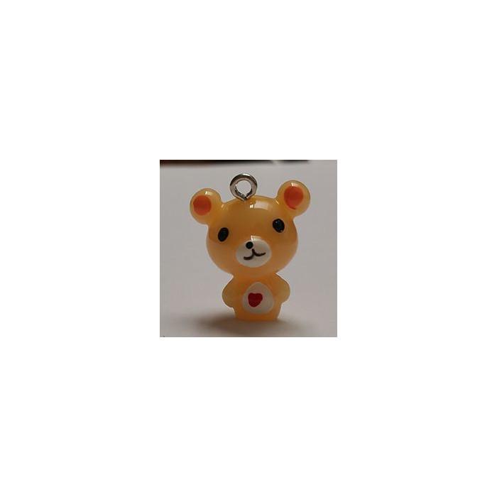 Breloque résine petit ours x1