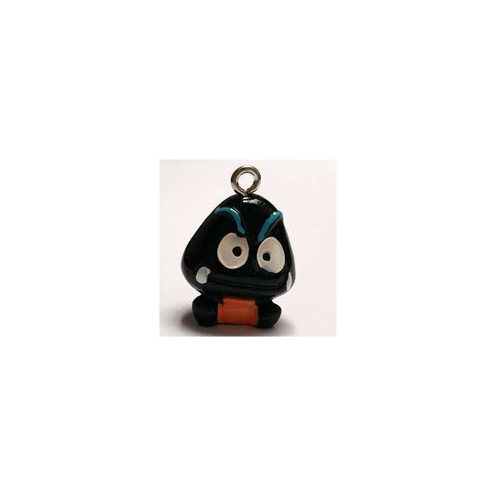 Breloque résine petit monstre noir x1