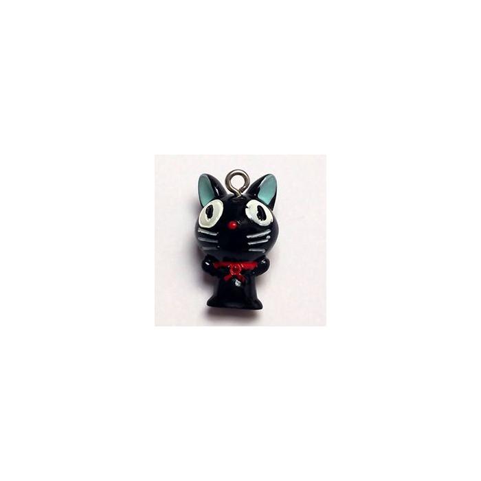 Breloque résine petit chat noir x1