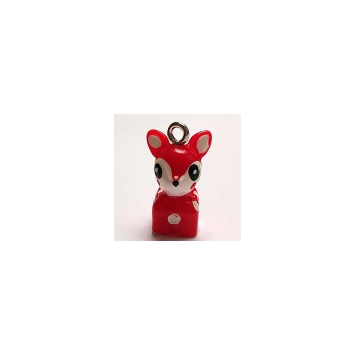 Breloque résine petit faon rouge x1