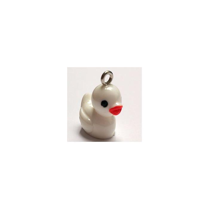 Breloque résine petit canard blanc x1