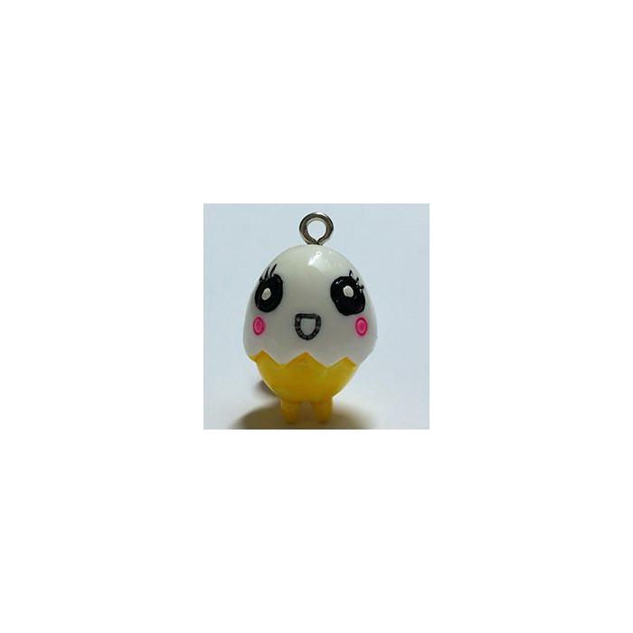 Breloque résine petit poussin blanc x1