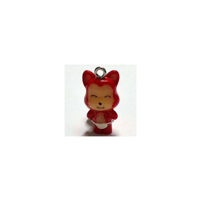 Breloque résine renard rouge x1