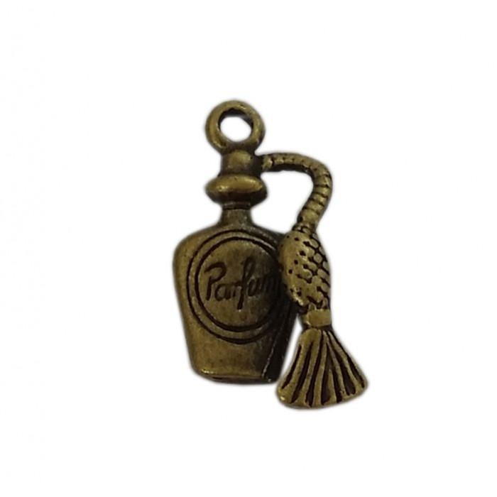 Breloque parfum 20mm bronze x1